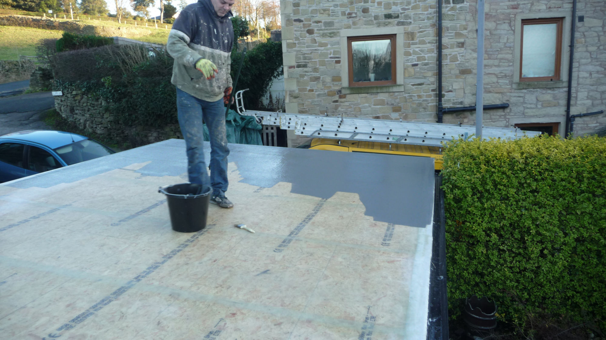 Replacing a flat roof in the Lancashire sunshine