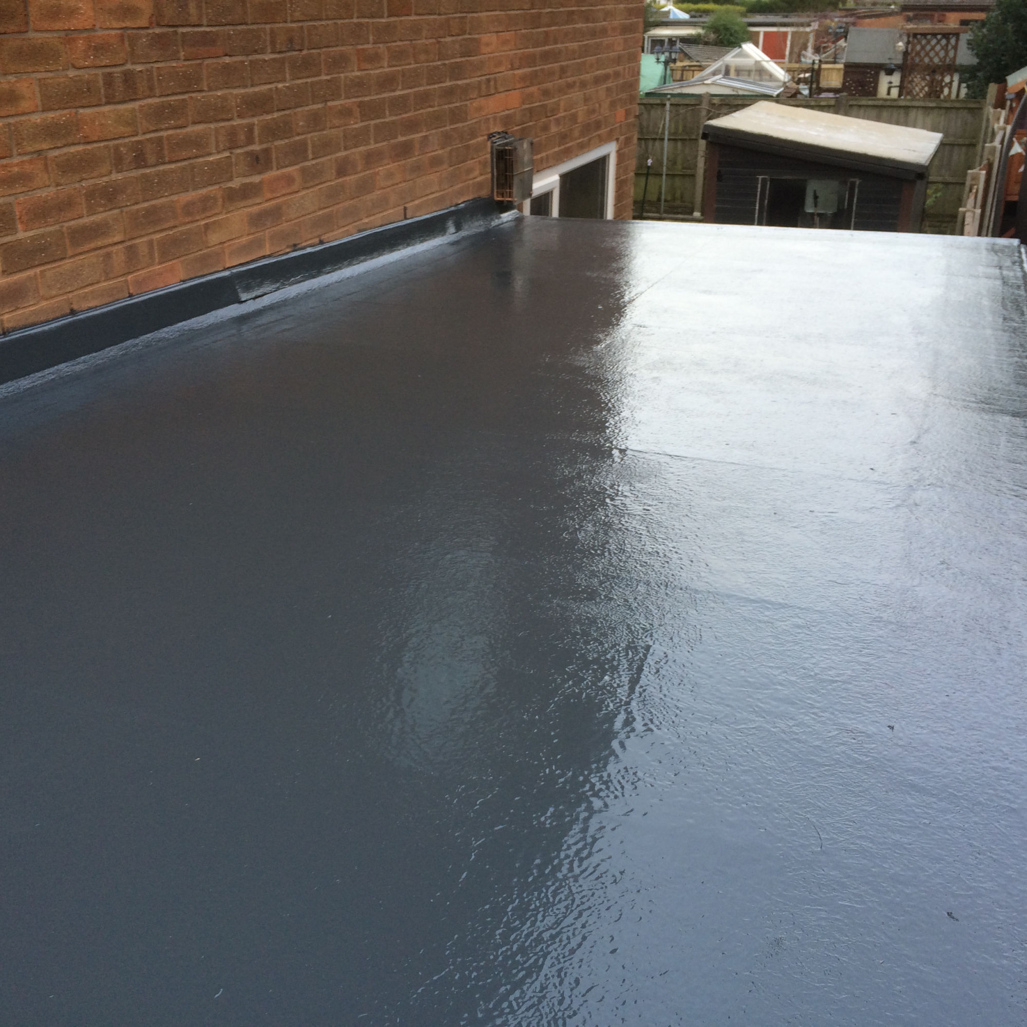 Flat garage roof repair in Burnley