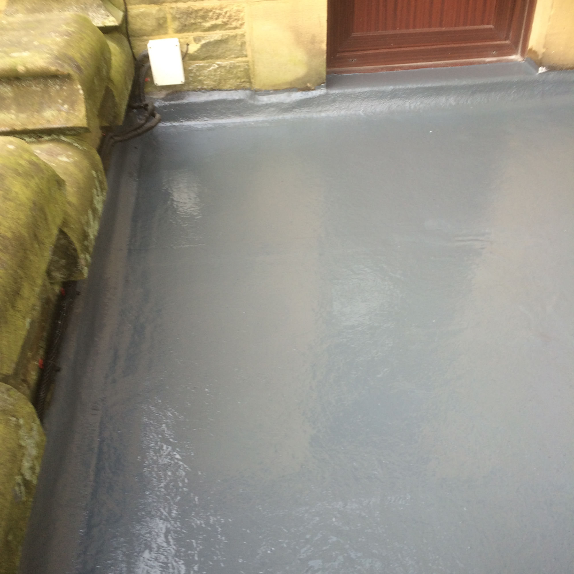Flat roof repair on a balcony in Burnley