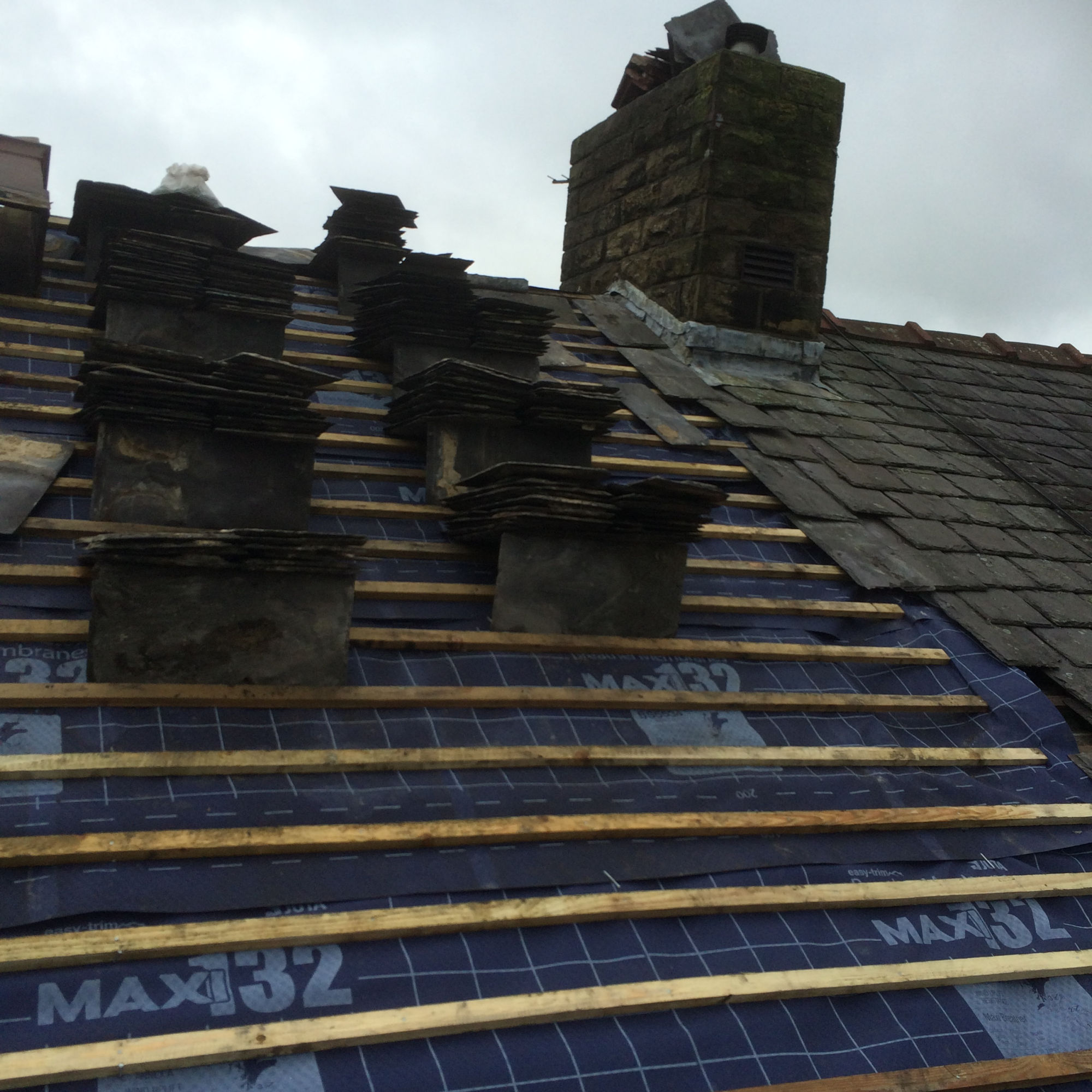 Slate roof replacement in Nelson, Lancashire