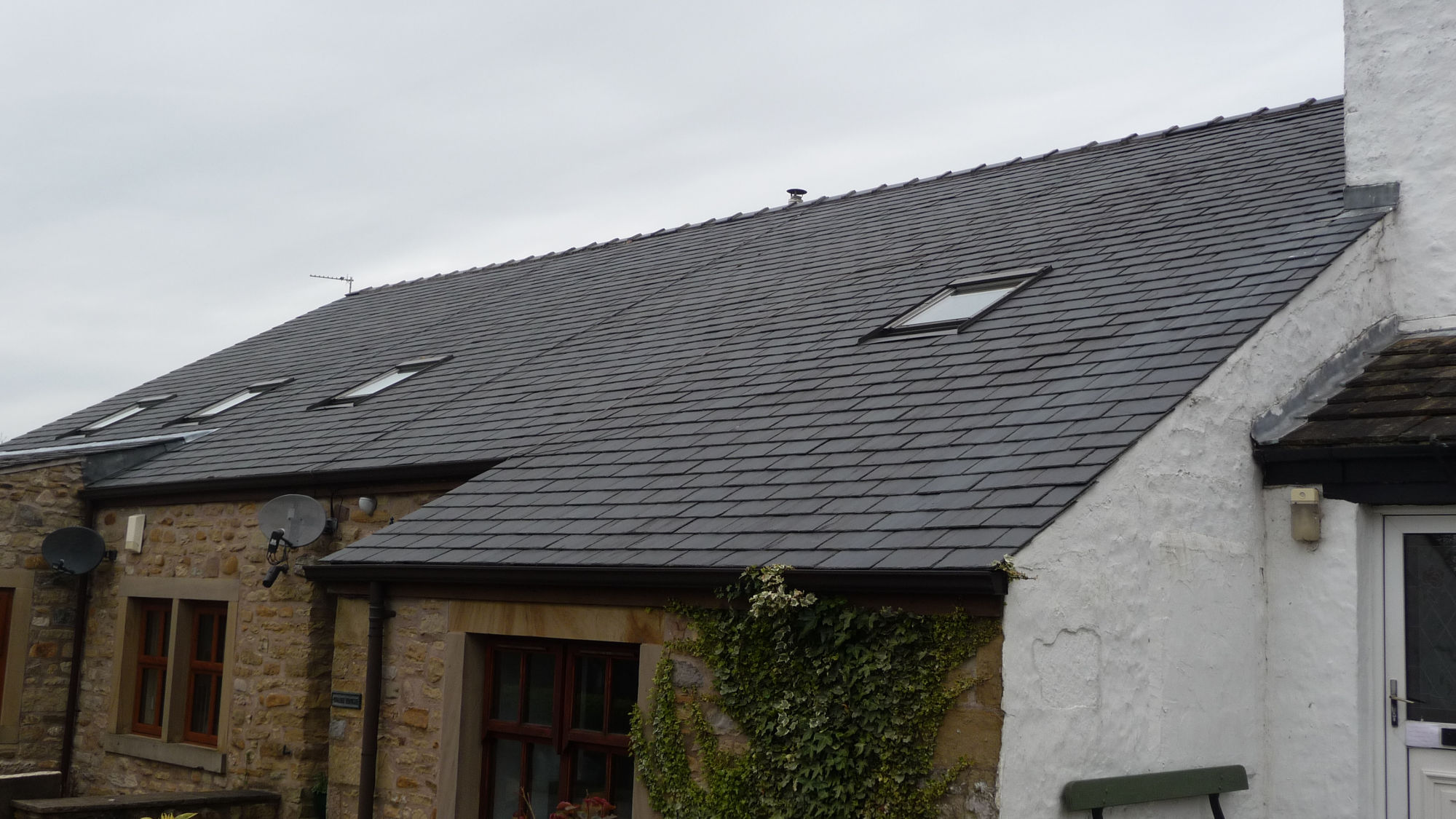 Re-roofing a slate roof